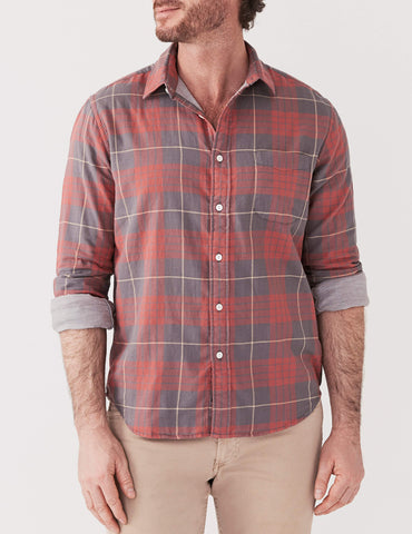 Doublecloth Shirt - Faded Rose & Grey