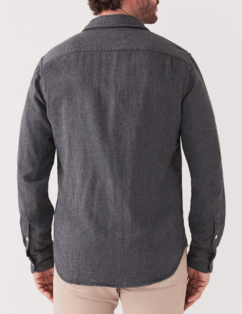 Doublecloth Shirt - Grey Indigo Twill
