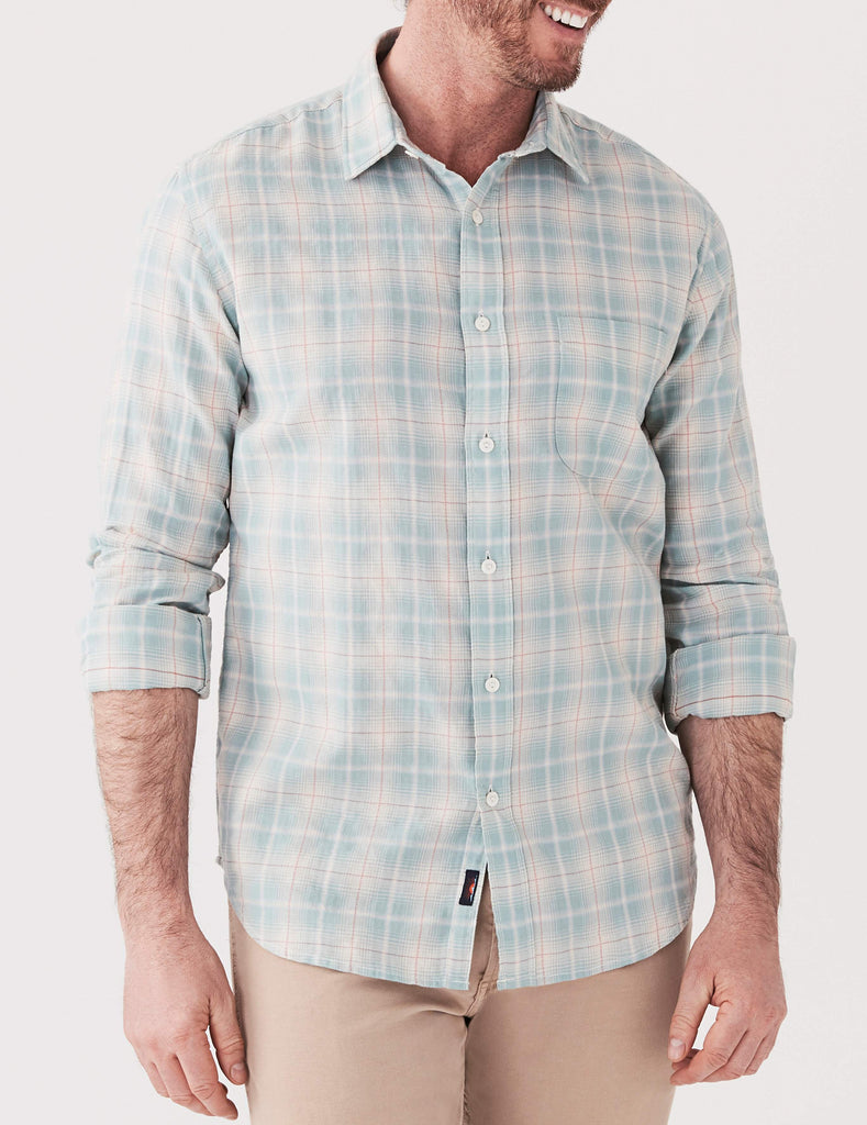 Ventura Shirt - Light Green & Cream