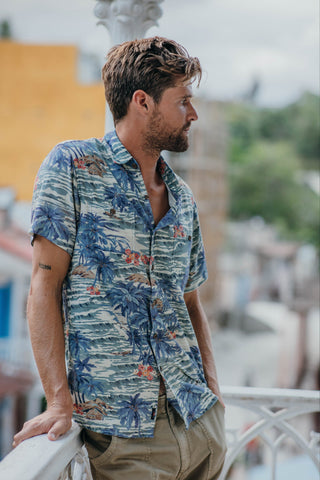 Rayon Hawaiian Shirt - Tahitian Dreams