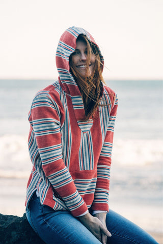 Seabrook Terry Poncho - Red Serape
