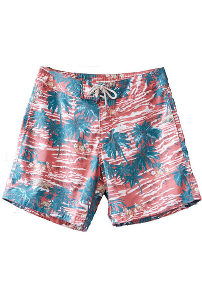 Classic Boardshort (7 Inch Inseam) - Red Hawaii