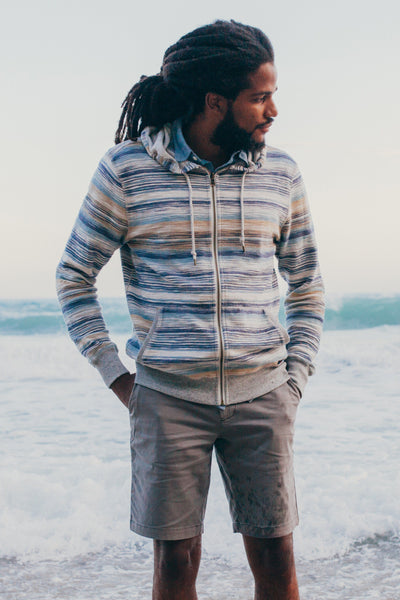 Reversible Terry Zip Hoodie - Shorebreak