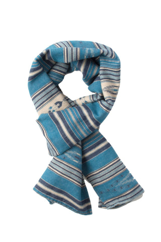 Shelter Scarf - Indigo Arrow Stripe