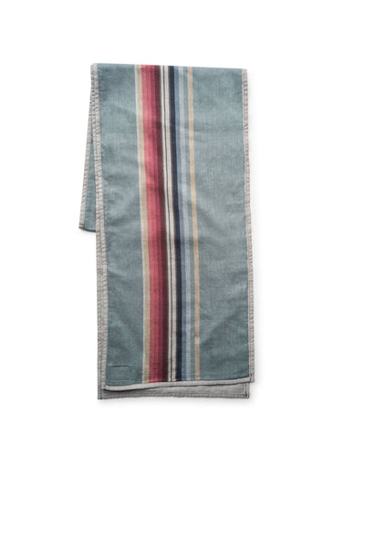 Shelter Scarf - Teal Stripe w Grey