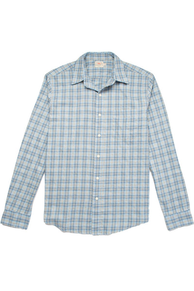 Ultra Fine Newport Check Shirt - Blue Heather Check