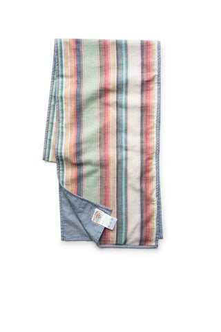 Shelter Scarf - Green Stripe/Chambray