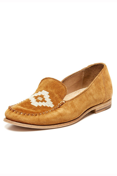 Soludos Embroidered Loafer - Brown Suede