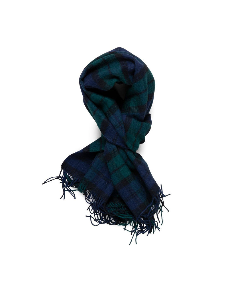 Alpaca Scarf - Black Watch Plaid