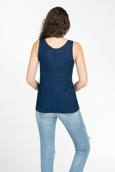 Breezy Days Tank - Dark Wash Indigo
