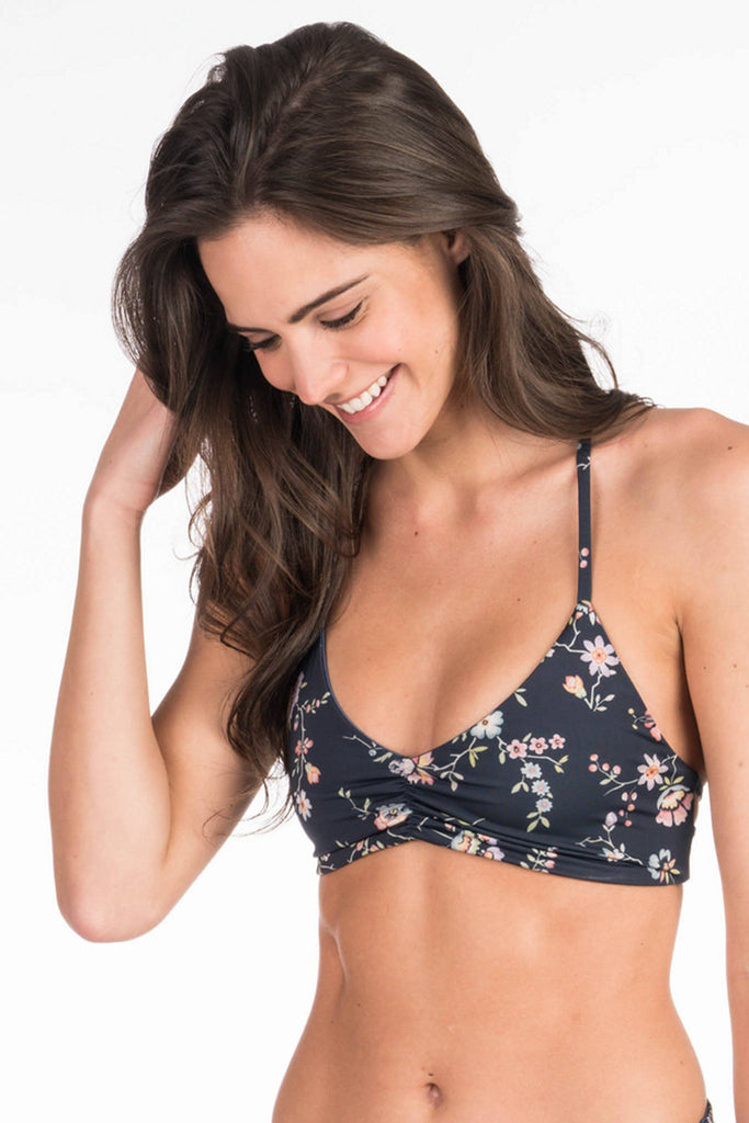 Tulum T-Back Top - Navy Traveling Floral