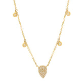 14K Gold Pear Shape Diamond Necklace