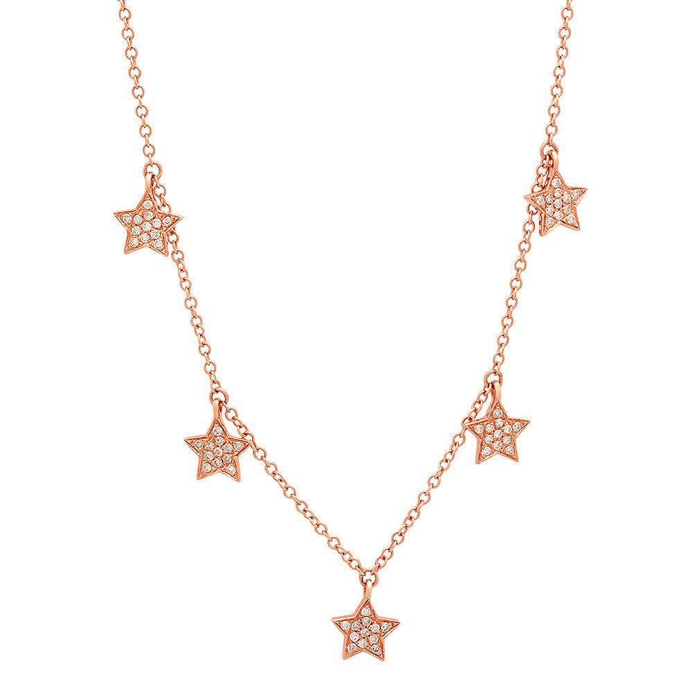 14K Gold Star Charm Necklace