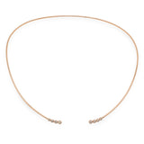 14K Rose Gold Diamond Choker