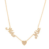 14K Yellow Gold and Diamond Name Necklace