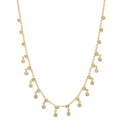 14K Diamond Drop Necklace