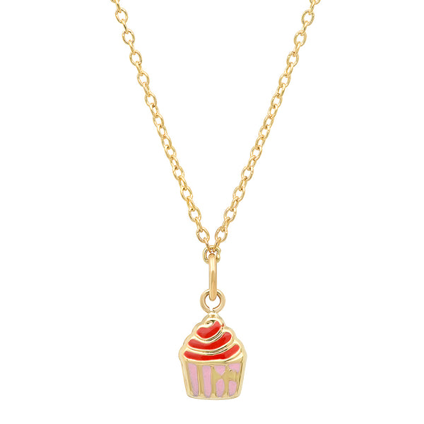 Cupcake Charm Necklace
