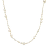 14K Yellow Gold Multi Shape Pearl Necklade