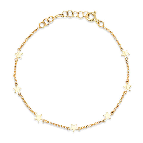 14K GOLD TINY STAR BRACELET