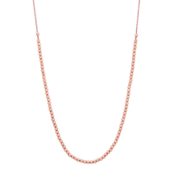 MOON BEADED NECKLACE ROSE GOLD