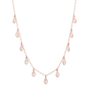 SHANE TEARDROP NECKLACE ROSE GOLD