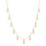 SHANE TEARDROP NECKLACE YELLOW GOLD