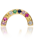14K Gold Single Rainbow Arch Stud