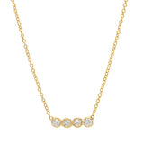 14K Yellow Gold Diamond Bezel Necklace