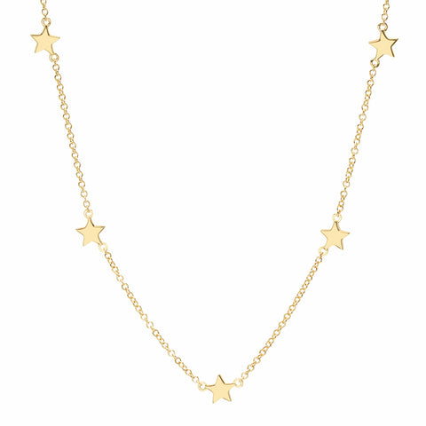 14K GOLD TINY STAR NECKLACE