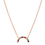 14K Gold Rainbow Arch Necklace