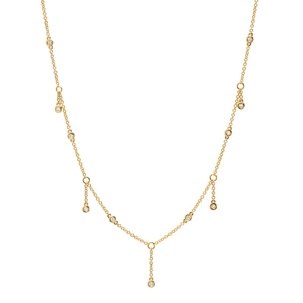 14K Gold Diamond Shaker Choker