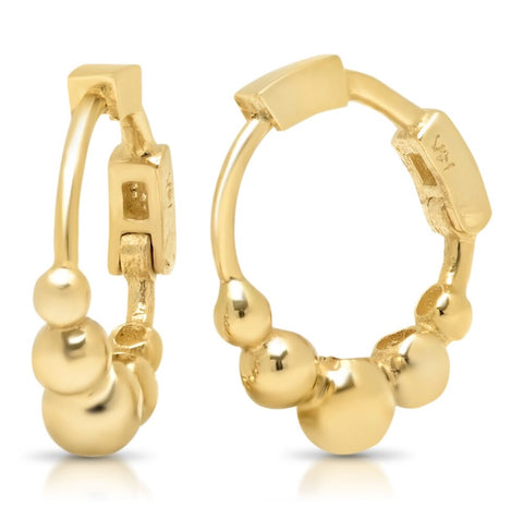 14K Gold Bubble Huggies
