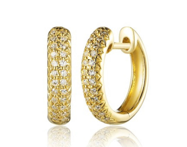 CLASSIC PAVE HUGGIE EARRINGS