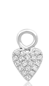 14K Gold Diamond Heart Charm