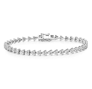 14K Gold Diamond Triangle Tennis Bracelet