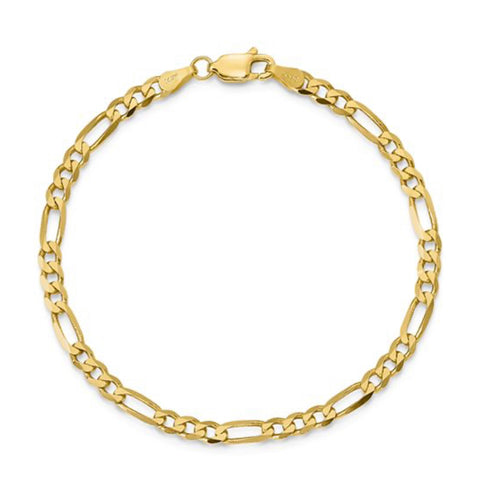 14K Yellow Gold Figaro Chain Bracelet