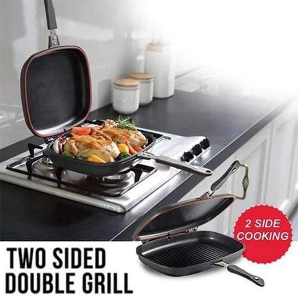 Ultimate Double-Sided Magnetic Non-Stick Grilling Pan
