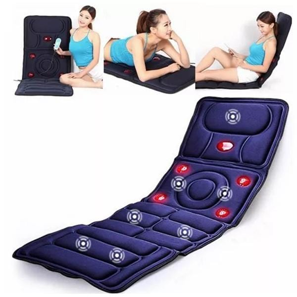 8-in-1 Full Body Heated Cervical Neck Massage Mattress