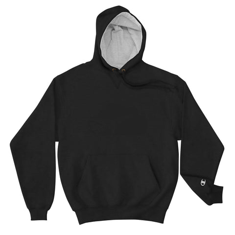 Black on Black Champion Hoodie
