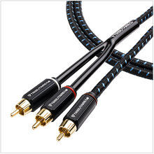 "Load image into Gallery viewer, Tributaries Series 4 Subwoofer ""Y"" Cable"