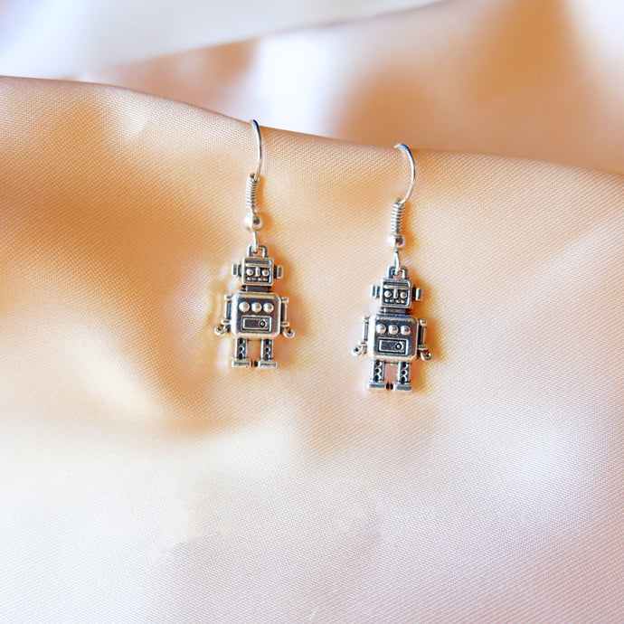 Robot earrings -S925