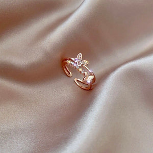 Sparkling Butterfly Ring - S925