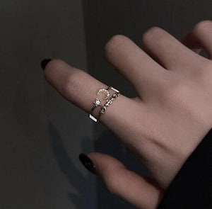 Moon Star Ring - S925