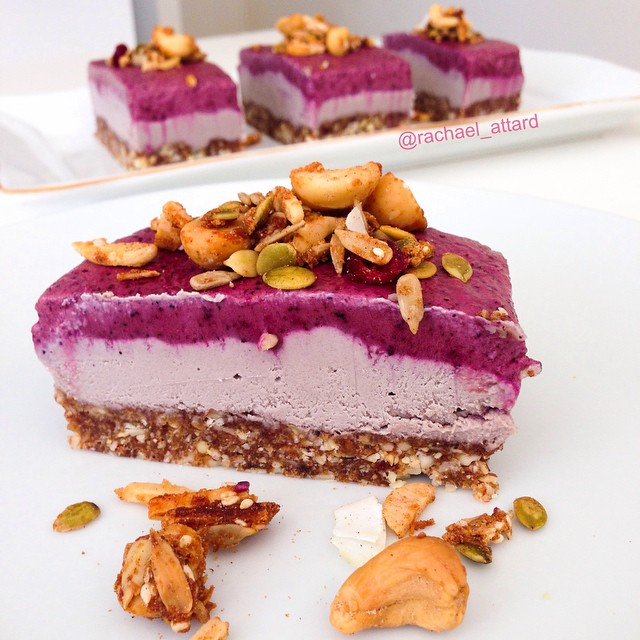 Creamy Raw Vegan Acai Cheesecake Recipe