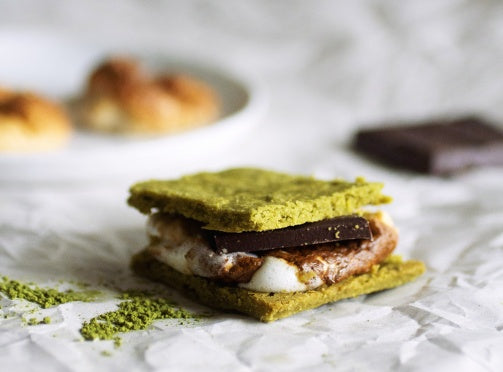 Sweet Matcha Shortbread Smores Recipe