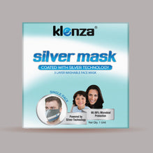 Load image into Gallery viewer, Klenza Silver non-medical face cover Single Pack- Grey