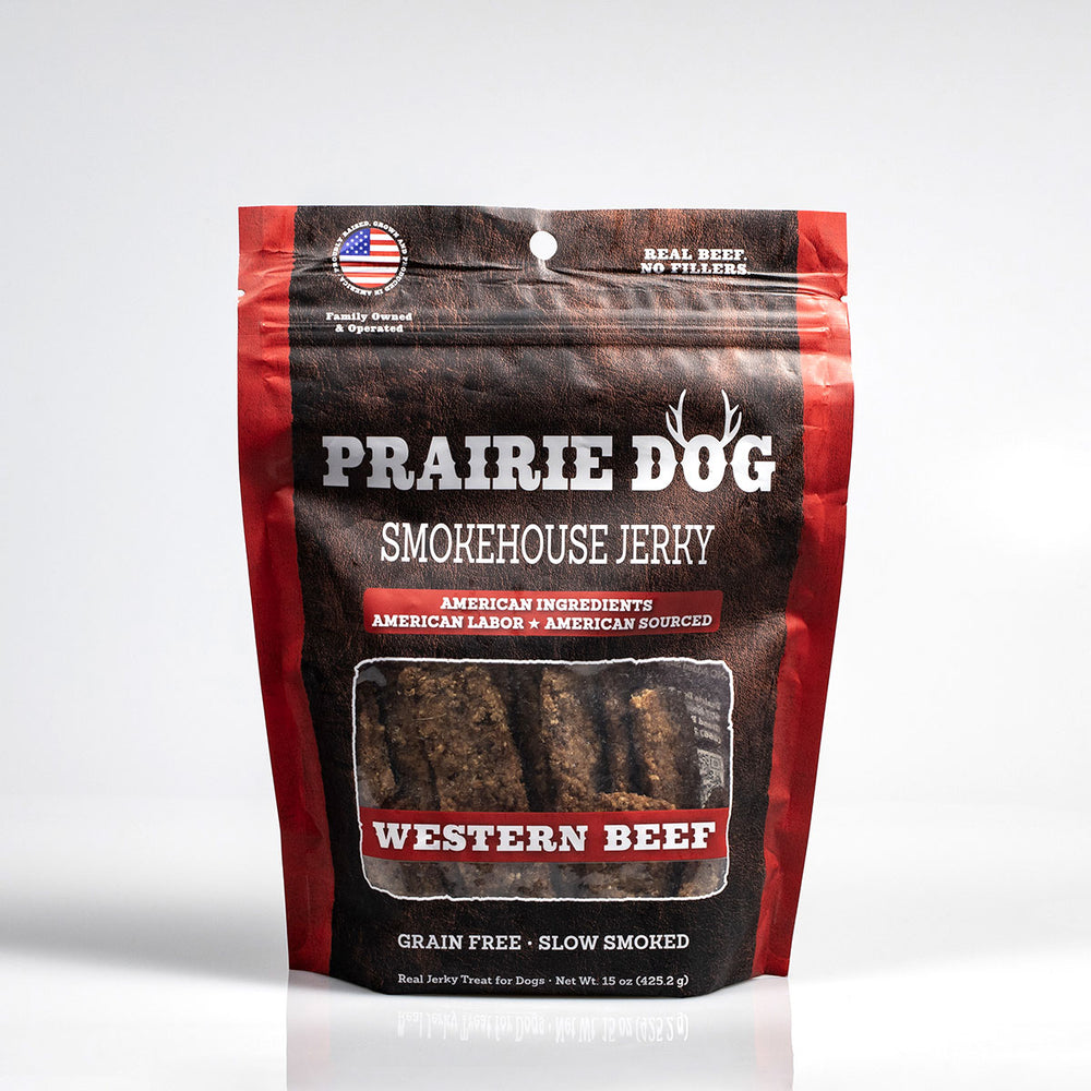 Load image into Gallery viewer, Smokehouse Jerky Western Beef Dog Treats, 15-oz bag