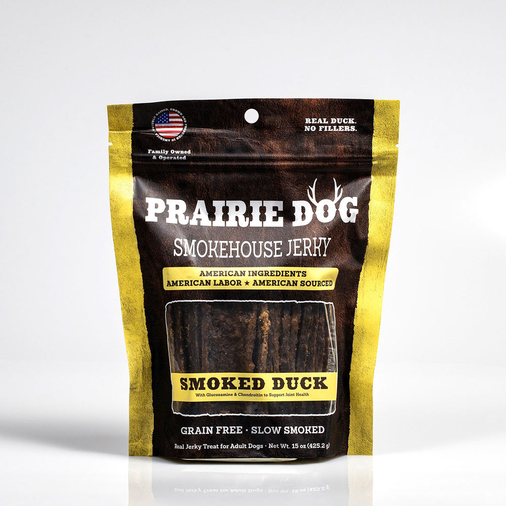 Smokehouse Jerky Smoked Duck Dog Treats, 15-oz bag