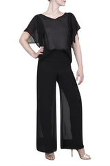 Wide leg georgette evening pant
