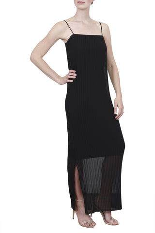 Concertina Dress, Black